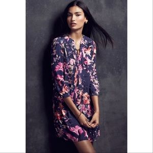Anthropologie Maeve Caravane Floral Tunic Dress